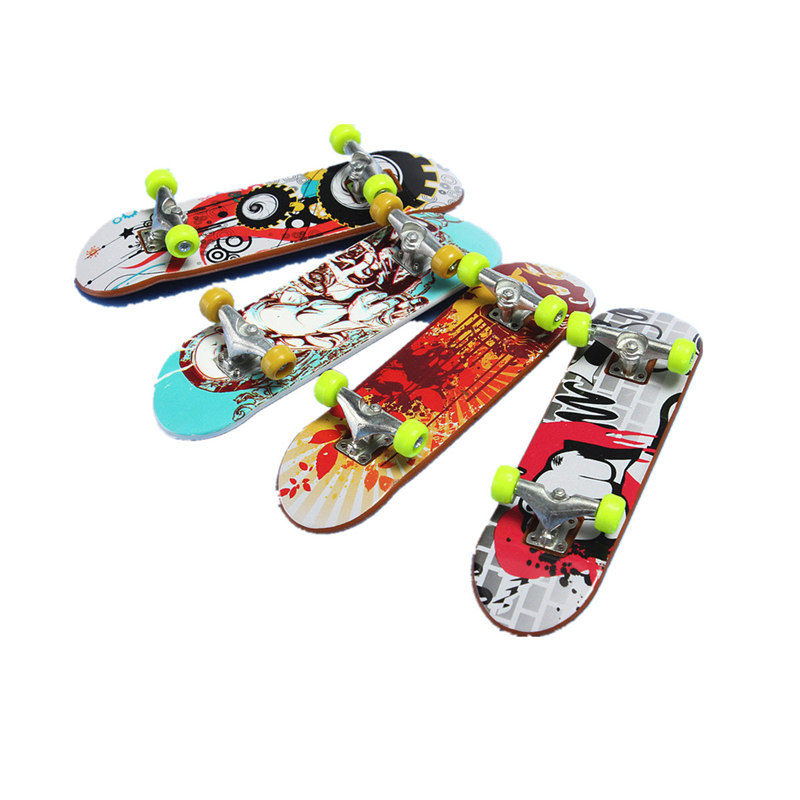 Board Games Toy Alloy Stand FingerBoard Mini Finger boards Skate trucks Finger Skateboard for Kid Toys Children Gift