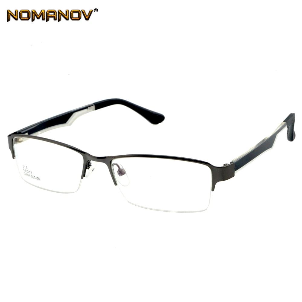 Herren-brillen Nomanov = Halb-rim Legierung Rahmen Brillen Maß Eine Myopie/lesen Optischen Oder Photochrome Grau/braun Linsen Bekleidung Zubehör