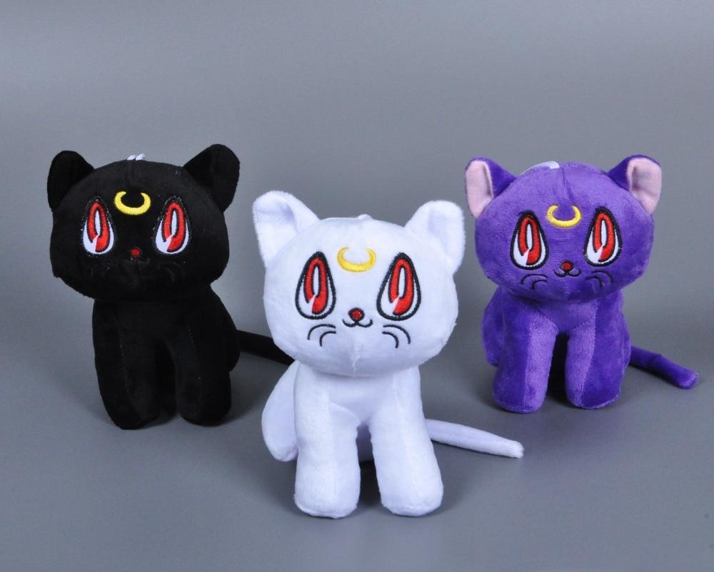 Anime Sailor Moon plush toy Cartoon Lunar Artemis Diana Cat stuffed doll Kawaii Animal Cat kids toy Christmas Gift for kids