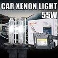 Один комплект 55 Вт Xenon HID комплект тонкий балласт H8 H9 H11 H11 55 Вт ксеноновые лампочки 4300 К 5000 К 6000 К 8000 К 10000 К