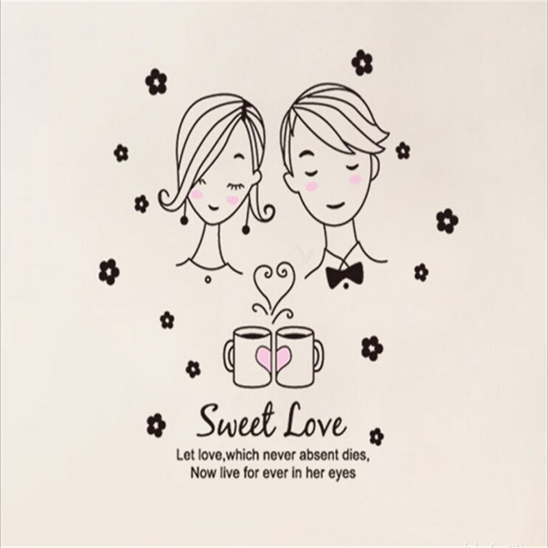 Romantic Sweet Love Wall Art Posters Stickers For Kids Rooms Children Home Decor Dining Table