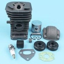 38mm Cylinder Piston Engine Pan Oil Seals Kit For Husqvarna 136 137 141 142 Chainsaw Intake Manifold Muffler Carburetor Gasket cylinder clutch sprocket drum bearing fit husqvarna 142 136 137 141 chainsaw
