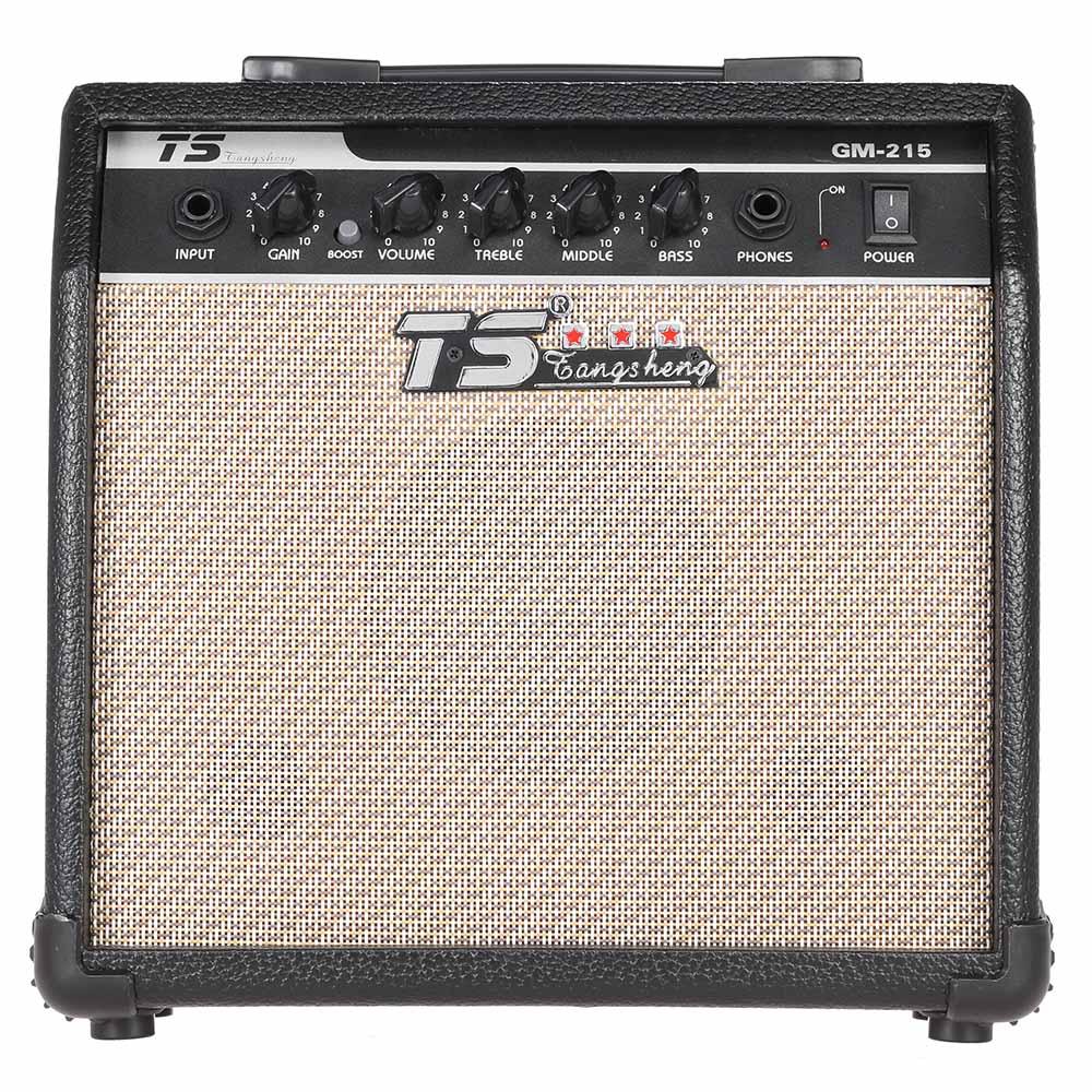 GM-215 professionnel 15W guitare électrique amplificateur ampli distorsion avec 5