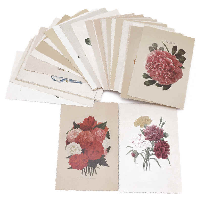 New Hot Selling 30Pcs Vintage Herbage Plant Postcard Greeting Card Christmas Card Birthday Gift Cards Beautiful Plant Flower