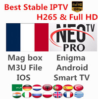 H265 HD IPTV Neotv pro French Morroca Belgium Arabic UK Live TV VOD Movies channels Europe one year Smart TV mag box