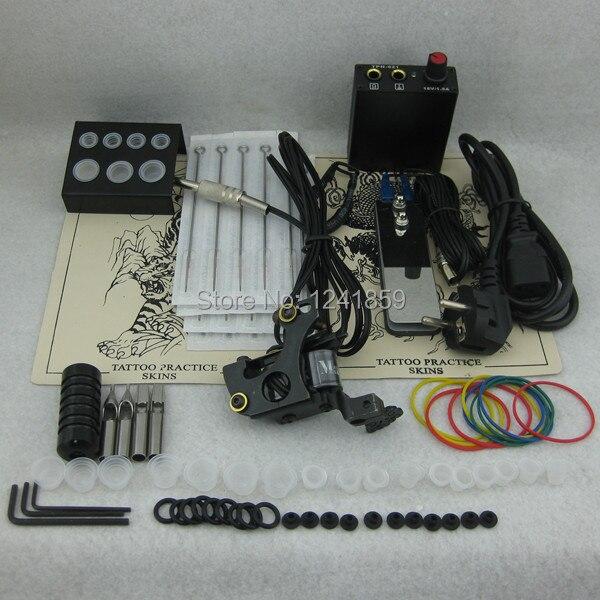 Profession Tattoo Kit Set Tattoo Mahchine Gun Power Supply Needle Grip Tip Combo Kit Set Supply TKS119# complete tattoo kit set tattoo gun power supply needle grip tip combo kit set supply tks110