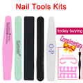Nail file buffer nail gel polish remover /Manicure Artificial file Nail file tools kit stamping limas para unhas de gel