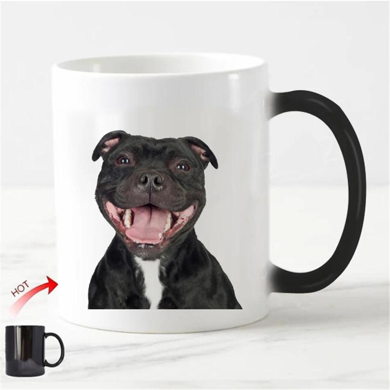 STAFFY DOG MUG ALL NEED COFFEE AND STAFFORDSHIRE BULL TERRIER COFFEE MUG
