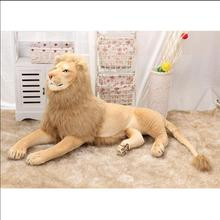 Super Big Size 70cm/80cm/110cm/120cm Real Life Lion Stuffed Plush Toys Artificial Animal Toy Doll Home Decor Accessories