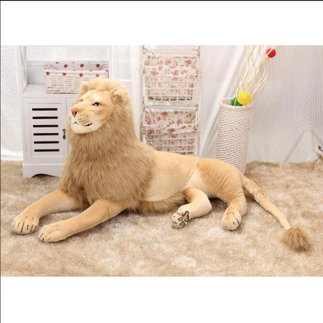 Super Big Size 70cm/80cm/110cm/120cm Real Life Lion Stuffed Plush Toys Artificial Animal Toy Doll Home Decor Accessories Toys
