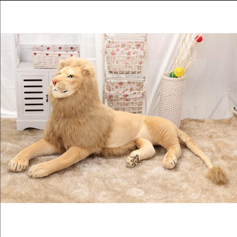Super Big Size 70cm/80cm/110cm/120cm Real Life Lion Stuffed Plush Toys Artificial Animal Toy Doll Home Decor Accessories Toys