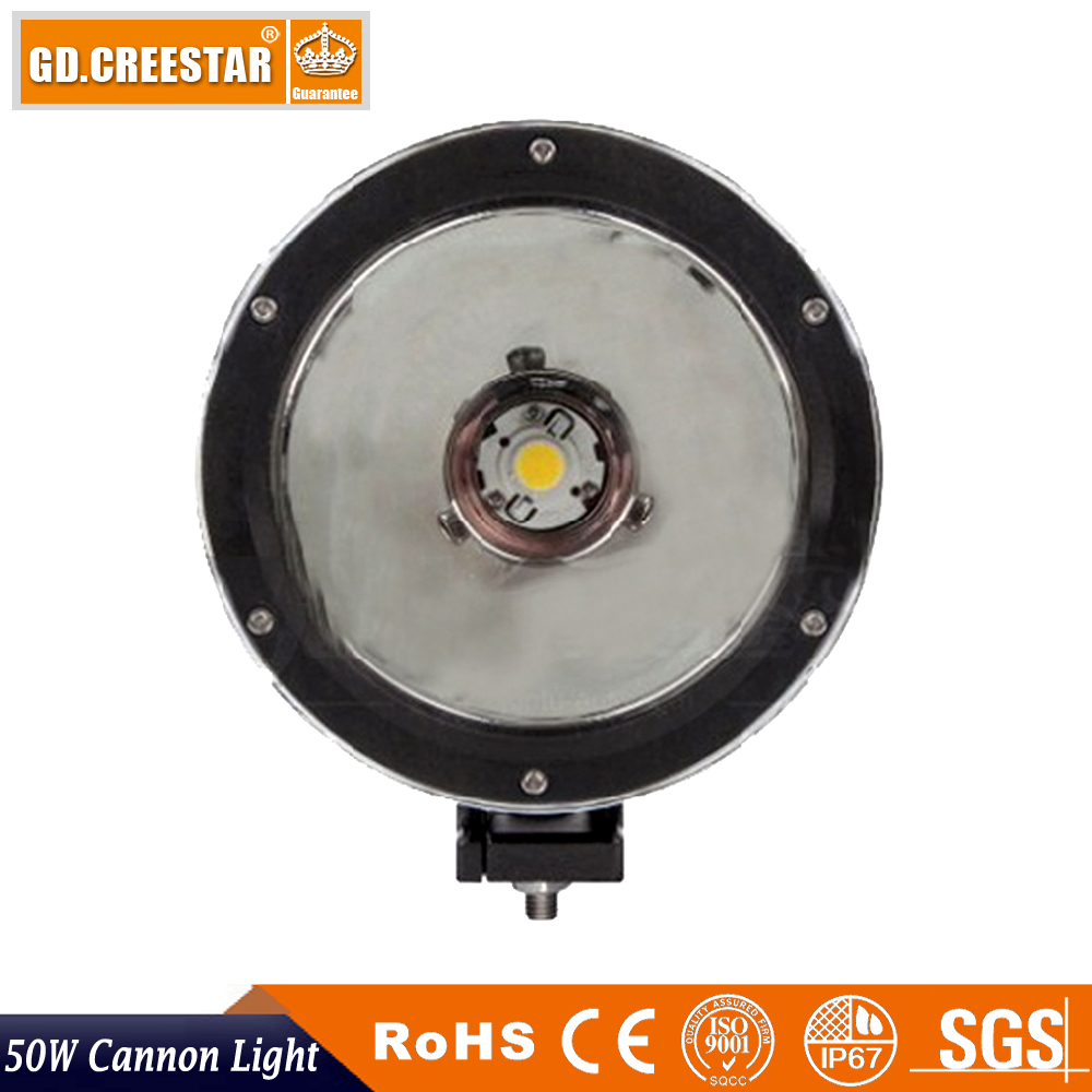 Led Cannon Light 6.7inch led light cannon 50W SINGLE LIGHT OFF ROAD 12V Led work driving lights used for 4x4 4wd suv atv x1pc