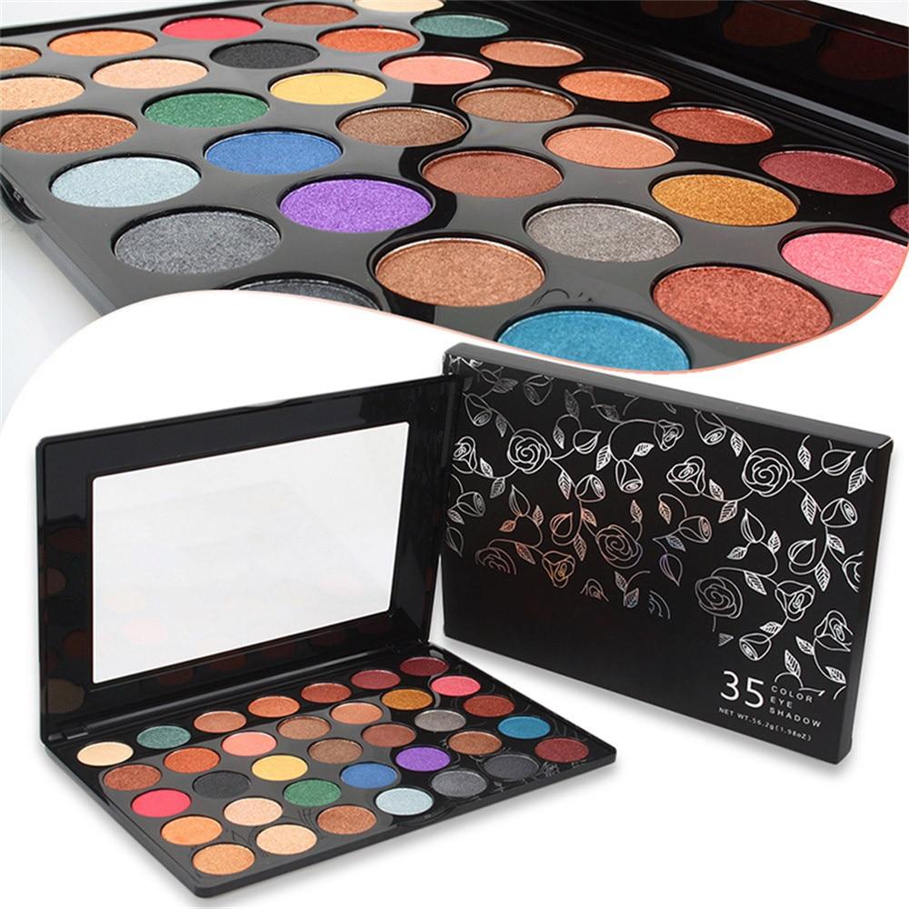Pro 35 Colors Glitter Eyeshadow Palette,Professional Fine