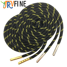 YJRVFINE 2 Pair 1/5Thick Hiking Shoelaces with Metal Tips Round Boot Laces Polka Dot Outdoor Climbing 16 Colors
