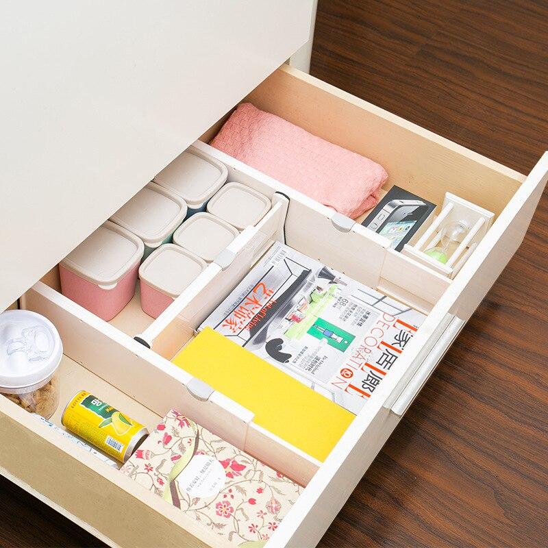 Adjustable Clapboard Drawer Divider Partition Storage Organiser Wardrobe GF