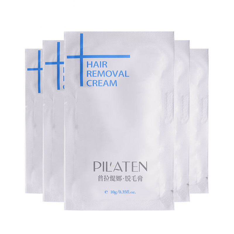 50pcs/Lot New arrival PILATENA Hair Removar Cream Painless Depilatory Cream For Leg/Armpit/Body 10g Hair Removal Cream 9