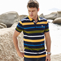 High quality camisa polo short sleeve sharks man brand clothing shirts Tace & Shark summer cotton mens striped polo