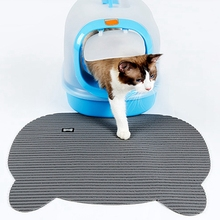 PVC Waterproof Pet Cat Litter Mat EVA Double Layer Trapping Pets Pad Bottom Non-slip Beds