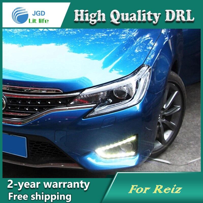Free shipping ! 12V 6000k LED DRL Daytime running light case for Toyota MARK 2013 2014 Fog lamp frame Fog light Car styling 2013 2016 innova daytime light free