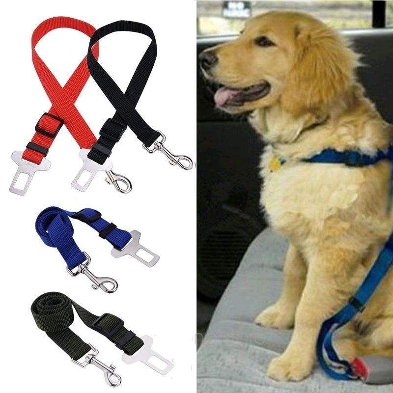 1PC Dog Pets Car Safety Seat Belt Harness Restraint Lead Adjustable Travel Clip Nylon Dog Leashes Harness Pet Accessories belt