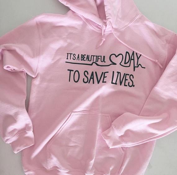 HTB1eXKQRVXXXXa8XpXXq6xXFXXXf - Grey's Anatomy It's A Beautiful Day To Save Lives Hoodie