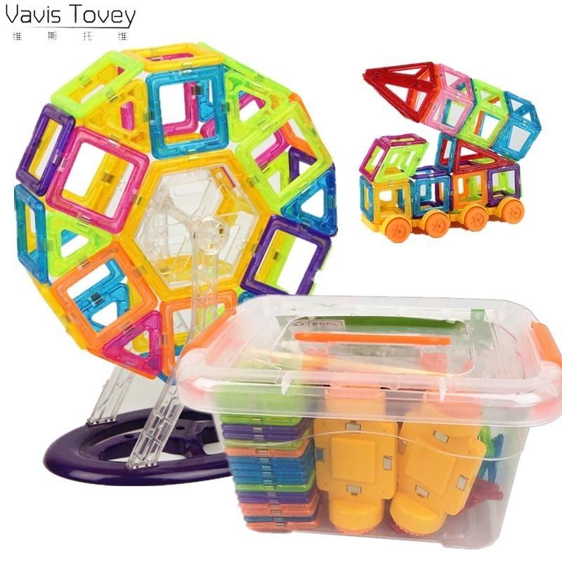 Vavis Tovey Mini diseñador plástico bloques magnéticos de construcción modelo y Juguete de construcción juguetes educativos niños regalo con caja
