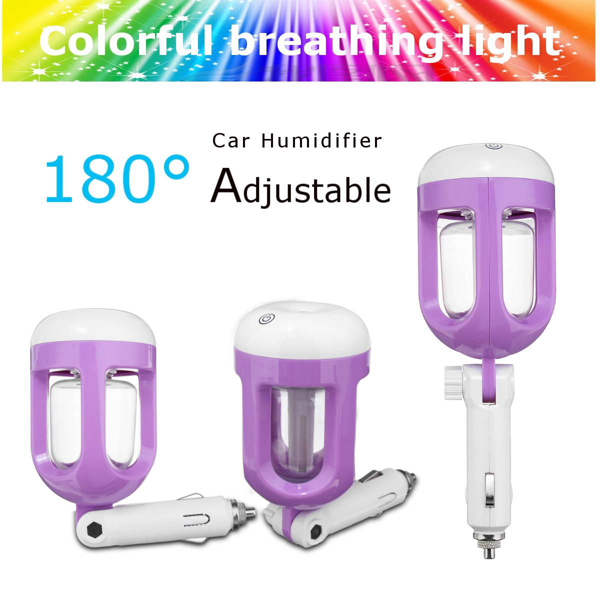 Mini Car Humidifier Air Purifier Freshener Aromatherapy Essential Oil Diffuser Household Humidifiers Best Gift For Women Men