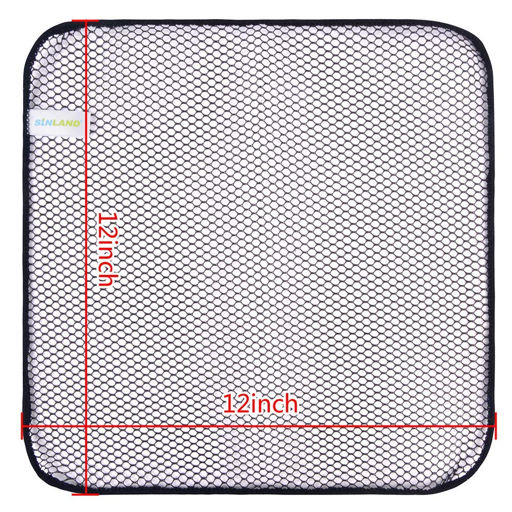 SINLAND Mesh Dish Cloths for Washing Dishes No Odor Dishes Scrubber Kitchen Fast Drying and Easy to Clean 12Inx12In 6 Pack in Cleaning Cloths from Home Garden