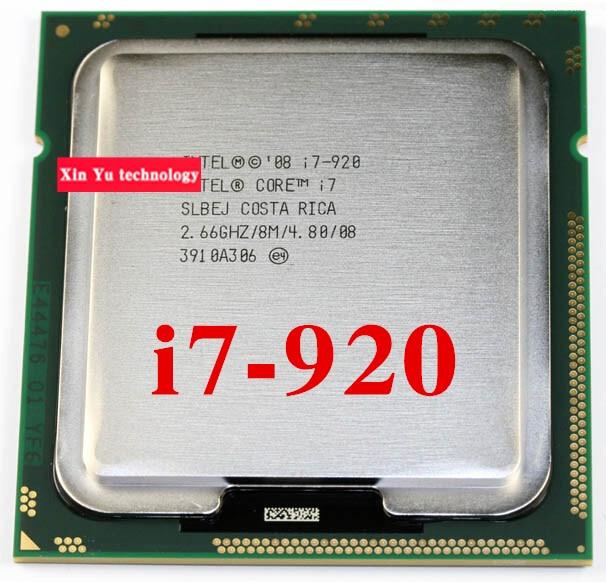 Core i7 920 2.66GHz 8M SLBEJ Quad Core Eight threads desktop processors Computer CPU Socket LGA 1366 pin