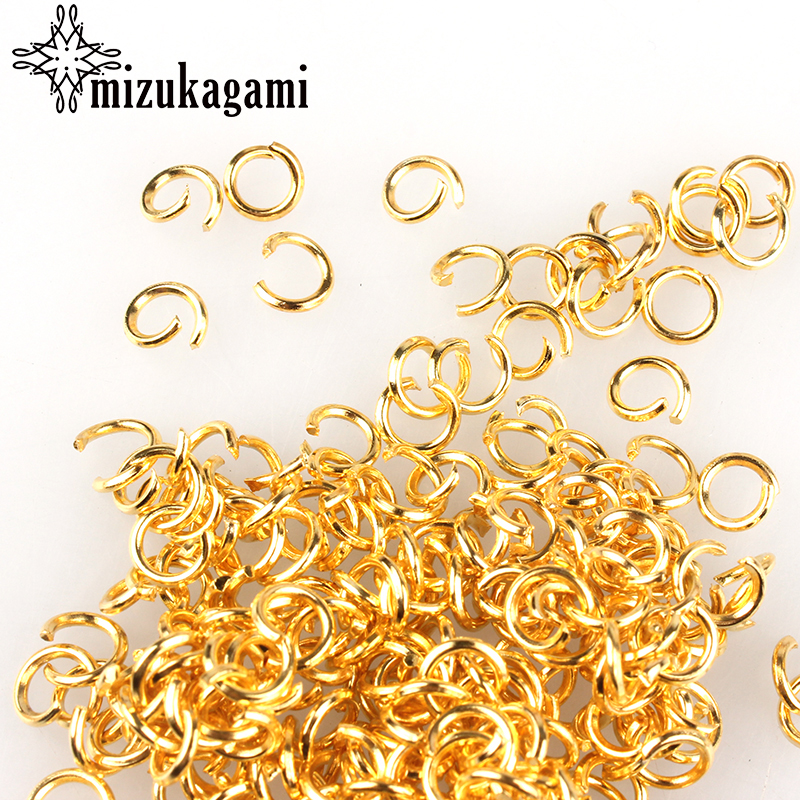 6mm RoseGold/Gold 200Pcs/lot Fashion Jewelry Findings Accessories Gold Open Jump Rings For DIY Jewelry Accessories Free Shipping