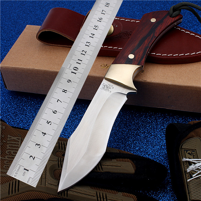 2017 New Free Shipping D2 Steel Outdoor Camping Hunting Knives Self-defense Wilderness Survival High Hardness Straight Knife stenzhorn survival knife new rushed navajas 2017 s35vn knife bearing folding with a blade with high hardness in the wilderness