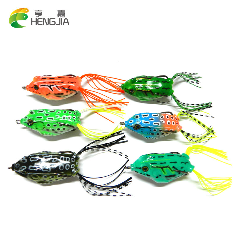 HENGJIA 8G 12.5G soft frog lure set isca artificial fishing lure bass fishing wobble pesca Fishing tackle peche leurre souple стоимость