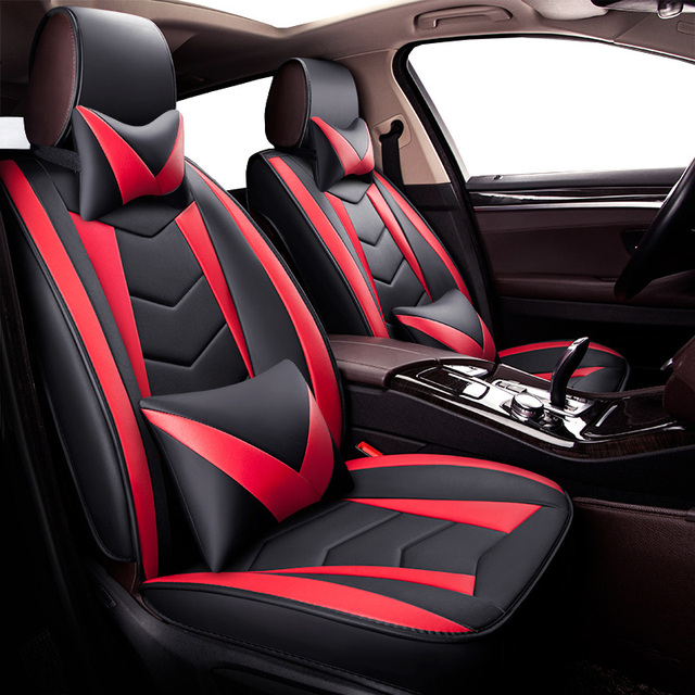 New Universal Pu Leather Car Seat Covers For Kia Rio 3 4 2017 2018 Soo 2005