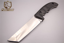 new D2 steel blade outdoor survival hunting tactical knife pocket fixed blade army knife tops knife Kydex handle Triangular head