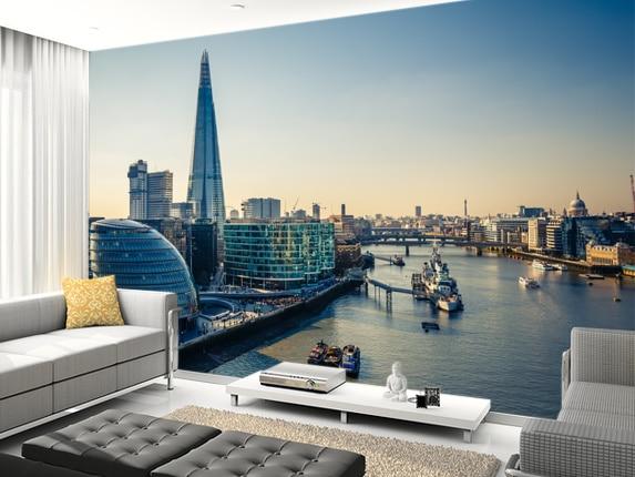 Custom Modern Landscape Wallpaper London City Photo Mural For