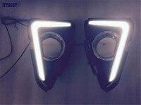 High Quality LED Daytime Running Lights Fog Lamp Cover Daytime Running Light DRL For Toyota RAV4