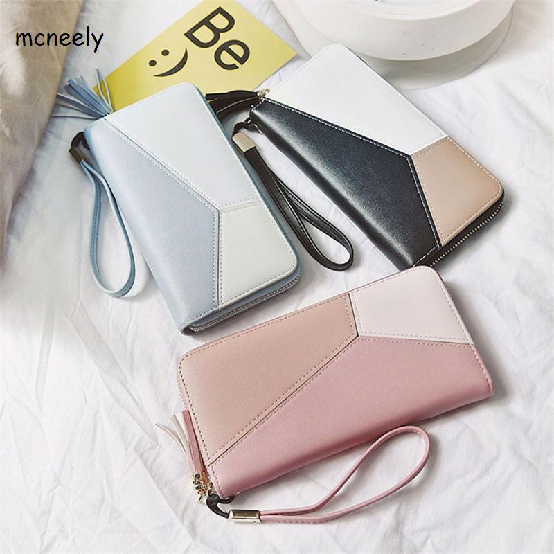 Lovely Female Colorful Day Clutch Zipper Bags Leather Long Women Wallet Fashion Girls Change Clasp Purse Money Card Holder yuanyu new hot free shipping card bag real thailand crocodile leather long wallet female fashion women day clutche purse