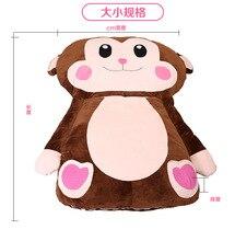 Мультфильм обезьяна мультфильм матрас, подушка, прекрасный и удобный размер twin Queen полный