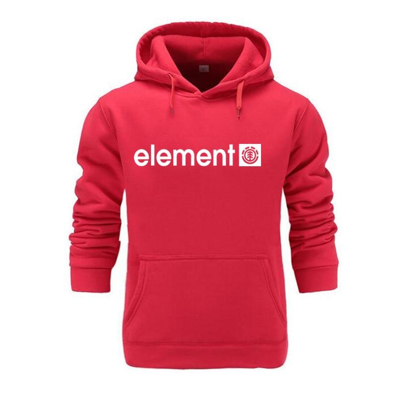 Autumn Winter Brand Mens Hoodies Sweatshirts Men High Quality ELEMENT Letter Printing Long Sleeve Fashion Mens Hoodies 27
