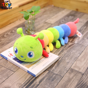 Плюшевый червь гусеницы игрушка насекомое набивное животное подушка для ребенка день рождения Рождественский подарок домашний декор Трой...