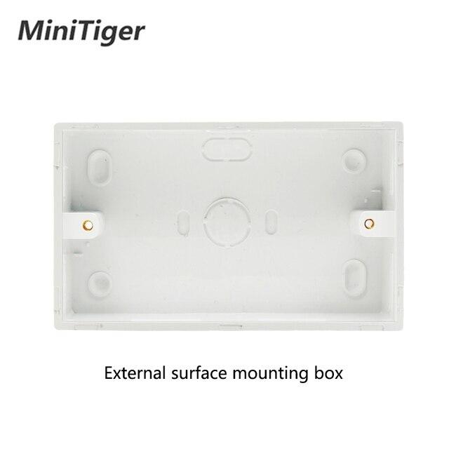 Minitiger 2.1A podwójny port ładowarki usb wskaźnik LED ścienne gniazdo zasilające podwójne uniwersalne 5 otwór przełączane gniazda 146mm * 86mm