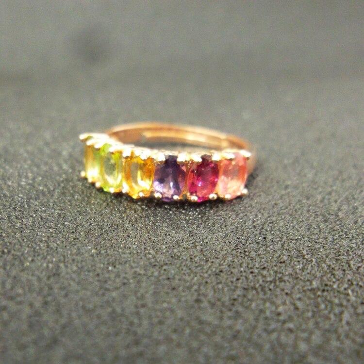 925 Sterling Silver Rings Přírodní Barevný drahokam Jemné šperky Svatba pro ženy Prsteny 2017 Nové prsteny otevřené prsteny j030501agc