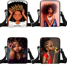 Afro mujer chica bolsa de mensajero África belleza princesa pequeño bolso las mujeres bolso mini bolsas adolescente bolso bolsas