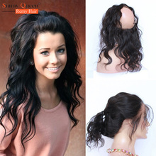 Rosa Queen Hair Products New 360 Lace Frontal Closure Brazilian Virgin Hair Body Wave New Lace Frontal Closure 22.5*4*2 Inches