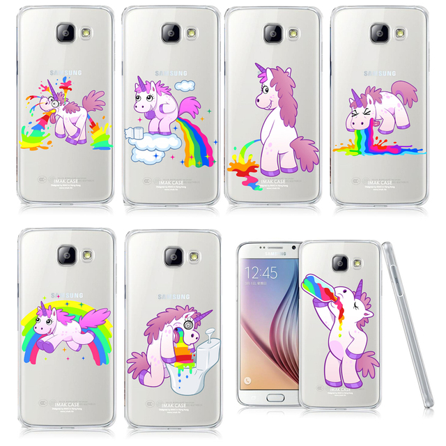separation shoes baa19 f9c9c US $1.38 30% OFF|Unicorn Angel Horse Pattern Phone Case For Samsung Galaxy  A3 A5 A7 J1 J5 J7 2016 Hippo Rainbow Unicorn Plastic Case Back Cover on ...