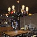 Скандинавский Ретро промышленный подвесной светильник с железной круглой подвеской  персонализированный креативный бильярдный ресторанн...