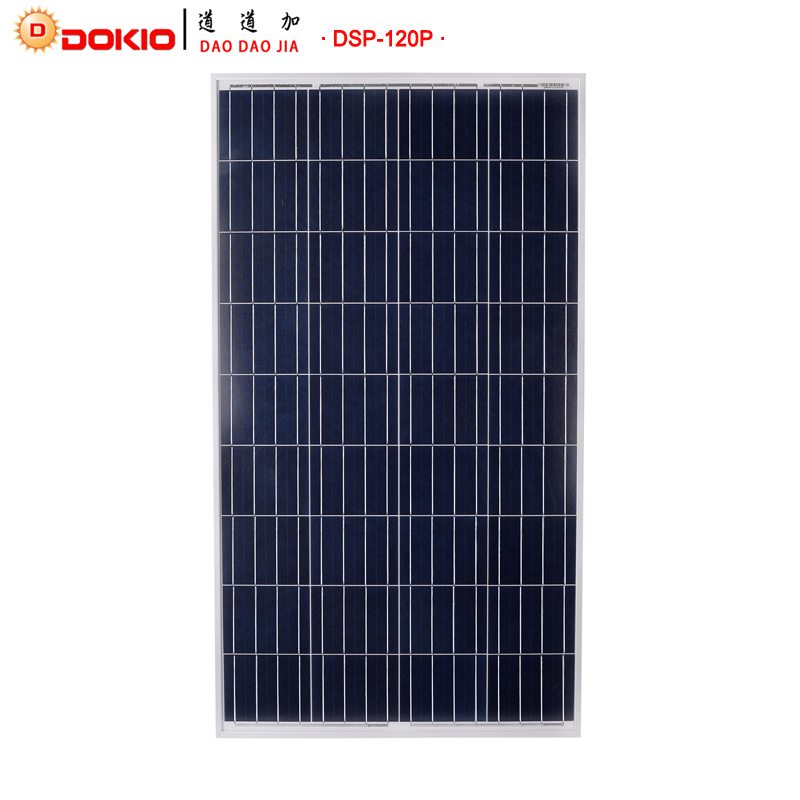 DOKIO Brand Solar Panel China 120W Polycrystalline Silicon Solar Panels 18V 1185 660 30MM Size 120