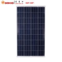 DOKIO Brand Solar Panel China 120W Polycrystalline Silicon Solar Panels 18V 1185*660*30MM Size 120 Watt Solar Battery China