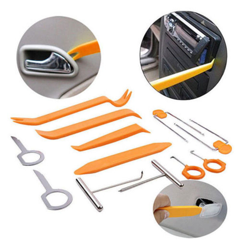 12pcs Car Disassembly Tools Car dvd player Stereo Refit Tools Interior Trim Panel Dashboard Installation Removal Pry CY018-CN+ car dvd player stereo refit tool kit 4pcs car door tools interior plastic trim panel dashboard installation removal pry