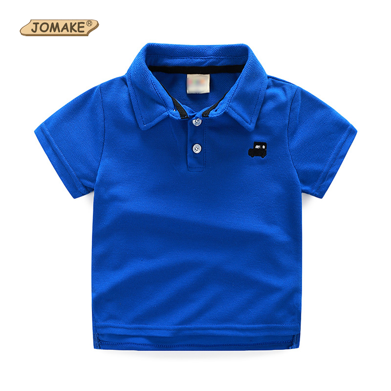 Baby T Shirt Solid Color Toddler Boy Polo Shirt Car